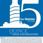 Hoy toca felicitar a @laopinioncoruna por sus #15añosLAOPINIÓN, ¡Feliz Cumple! 😉 http://t.co/zYglEGSOTs #Coruña http://t.co/JDzw5dYFJq