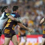 3 minutes remaining. Broncos 16 lead Cowboys 12. #NRLGF http://t.co/rCwEgid7Hb
