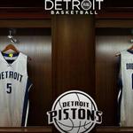 """Detroit Pistons unveil new """"chrome"""" uniforms for 2015-16 season http://t.co/sTM4IpqA3u http://t.co/p6lDDspuhD"""