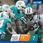 HALFTIME: Gang Green looking STRONG #NYJvsMIA http://t.co/1gjoDg6RwH