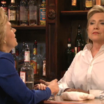 WATCH: Hillary Clinton bartends, sings during Saturday Night Live appearance http://t.co/kh194hrjri http://t.co/XzrFwX3oDU