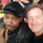 Happiness.. is sitting next to a United fan while this is actually happening. # AFCvMUFC @henrygayle http://t.co/q28G0cWqYZ