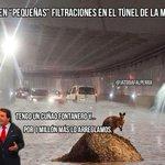 """Cuidado al pasar por el túnel de la #Marina!! Con las lluvias de esta mañana volvieron las """"pequeñas"""" filtraciones... http://t.co/YDjqK1Pa7g"""