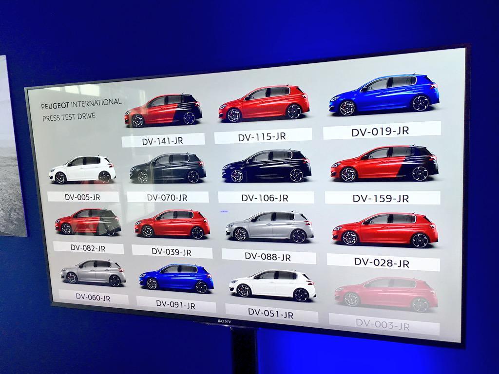 Les essais #Peugeot308GTI avec @PeugeotFR commencent bientôt ! On prend laquelle ? http://t.co/DNiDmz4Q6l