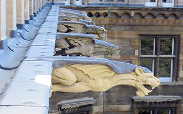 College gargoyles given extra weight to protect them from falling http://t.co/MtPTQ1gR3k http://t.co/ghtEQmqSQo