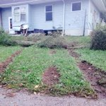 Tire tracks mark where a vehicle drove into a home in West Manchester Twp. on Sat. Night, killing one. @ydrcom http://t.co/cXEpYHa6vf