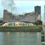 WATCH: Demolition Crews Implode Riverfront YMCA Building http://t.co/KYYAdKP3Jy http://t.co/rQK7ByznbE