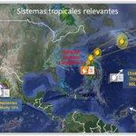 Sistemas tropicales, #PacíficoOriental remanentes de #Marty y #94E, #Atlántico Huracán #Joaquín cat 3, #90L y #91L http://t.co/kuDeqQq8jS