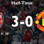HT: Arsenal 3-0 Man Utd Jenas Man Utd have been overrun and overpowered http://t.co/7rzz6KdGFp http://t.co/AxZi4fGMCu