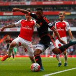 HT: Arsenal 3 United 0. Early goals from Sanchez (2) and Ozil give the Gunners the lead. #mufc http://t.co/tRDLNwOnVU