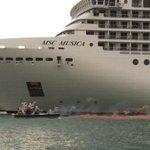 #4O #Venezia i pirati della laguna disturbano il passaggio della MSCMusica #nograndinavi #orabasta http://t.co/iNt7vGwbwL