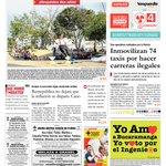 #REGIÓN: Portada de la edición de domingo del periódico Vanguardia Liberal de B/manga. http://t.co/QGDforDcaZ Foto: cortesía @vanguardiacom