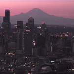 #Seattle looking pretty in pink this morning...very fitting for #BreastCancerAwarenessMonth! http://t.co/AaC9zncHUY