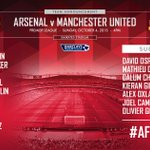 The teams are in for #AFCvMUFC. What do you make of how @Arsenal line up? http://t.co/VVbV4mluRr