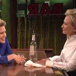 Hillary Clinton talks shop with Hillary Clinton on SNL http://t.co/17p6BnAbu3 http://t.co/x7pIxhKWkn