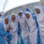 NFL fans in London dress as actual dolphins for Jets-Dolphins game - http://t.co/q4qISeQNkO http://t.co/RznRl0cPB9