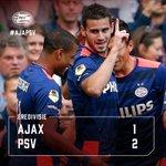 De landskampioen wint in Amsterdam door twee prachtige treffers van Pereiro! Supporters gefeliciteerd! #ajapsv http://t.co/gyToKOzL6m