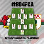 #FCA starting XI vs. @bayer04fussball! Auf gehts Männer, kämpfen und siegen! #B04FCA #Matchday http://t.co/HYLbAJUpsB
