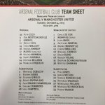Here is the #AFCvMUFC matchday teamsheet for todays game at Emirates Stadium http://t.co/BKIneDYhB6