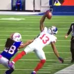 VIDEO: Odell Beckham Jr. nearly recreates legendary 1-handed catch vs. Bills http://t.co/dcIteYrhw3 http://t.co/6zTVP481Ue