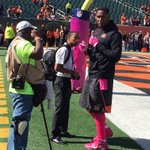 #Bengals all pinked up today #WhoDey #Bengals @WLWT http://t.co/JuPuD05GYr