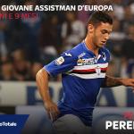 #Pereira della #Samp è diventato il più giovane assistman nei maggiori campionati europei. #SampInter 1-1 #SkySerieA http://t.co/IUyVymnxYb