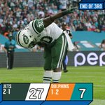 END OF THIRD: Its all JETS here #NYJvsMIA http://t.co/csJsNFGjNF
