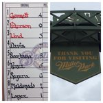 Todays lineup vs. the Cubs at Miller Park. First pitch 2:10 CT on @fswisconsin and WKTI-FM 94.5. http://t.co/oezRdxO6yO