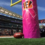 #Bengals breast cancer awareness. @FOX19 http://t.co/BcbOCtcNIi