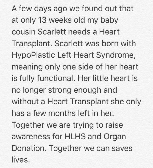 Please help me and my family raise awareness of HLHS and Organ Donation. @NHSOrganDonor  https://t.co/lUxgGVwIGN http://t.co/tbYPzMZ6Kb