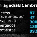 El Centro de Operaciones de Emergencia ha actualizado las cifras de la #TragediaElCambray: http://t.co/gcOJnviJU7