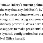 Any time I hear about dynastic politics/Hillary, I think about @rtraister's piece. http://t.co/FBqThD8avw #NYerFest http://t.co/nX9T0L75gH