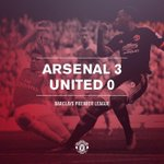 FT: Arsenal 3 United 0. The Gunners quickfire first-half goals sink the Reds on a day to forget in North London. http://t.co/dOIudKbwPp