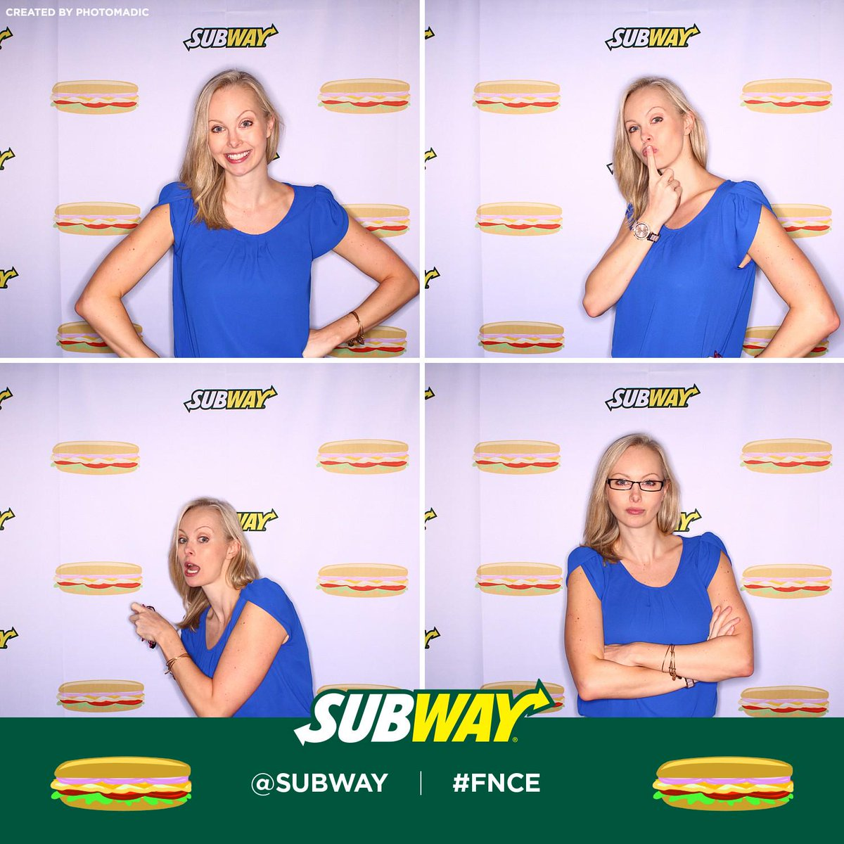 Hanging out with @SUBWAY at #FNCE http://t.co/fEztTM5DQk http://t.co/bk2o8oyX3A