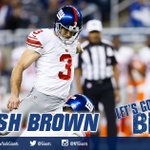 #Giants strike first! Josh Brown FG from 47-yards is GOOD and Big Blue goes out in front 3-0! #NYGvsBUF http://t.co/8HQqQxUkFm