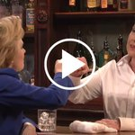 Hillary Clinton Makes Fun of Donald Trump (And Herself) on SNL http://t.co/sNeq6s4clY http://t.co/K5WmG66TOz