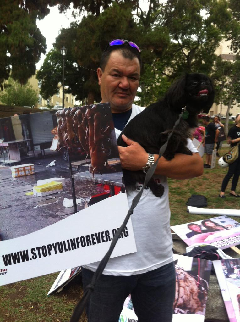 At the LA March to #stopyulinforever http://t.co/CzxdDi8lVJ