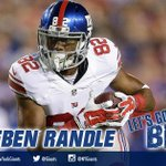 TOUCHDOWN!!! Eli Manning finds Rueben Randle for an 11-yard score and the #Giants lead 16-3! #NYGvsBUF http://t.co/MKqIWts65o