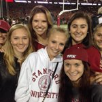 Being recognized at the game as Stanford wins the Capital One cup the 3rd time! #gostanford #bestofthebest http://t.co/fE07slt4vi