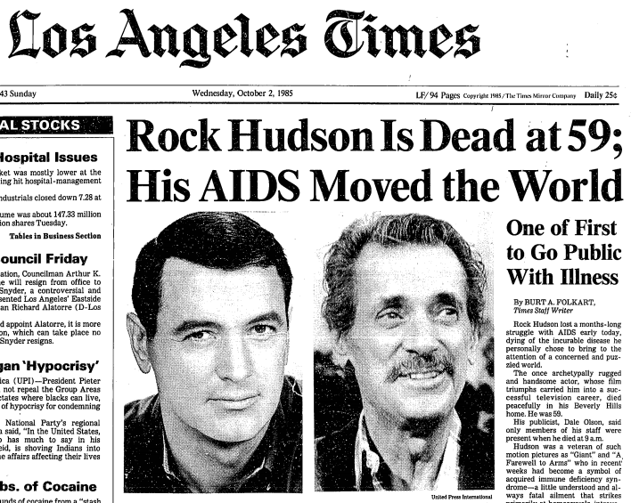 Image result for the death of rock hudson