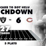 Raiders lead 14-6 with 7:12 remaining in the second quarter. #OAKvsCHI http://t.co/1lqwiuRr9u