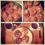 Heres my cinnamon buns I made in honour of #CinnamonBunDay #kanelbullensdag so yummy! #vegan http://t.co/syUuKkryms