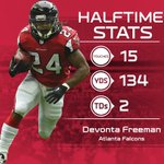 Someone needs to tell Devonta Freeman that its only HALFTIME. #HOUvsATL http://t.co/OQlrG1PcZl