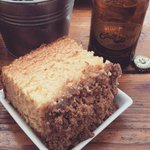 Giant coffee cake & cold brew while @jistcafe plays Depeche Mode on the speakers. #SundayFunday in #dtla http://t.co/qXjJd8NwmN