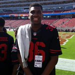 @Loon_Rebel5 with GS Warriors at Levi s Stadium. Says hes true to #packers today. http://t.co/UlbR2ElMuu