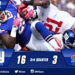 3 down 1 to go - #Giants lead the Bills 16-3 as we go to the 4th quarter! #NYGvsBUF http://t.co/DZDrZquWgA