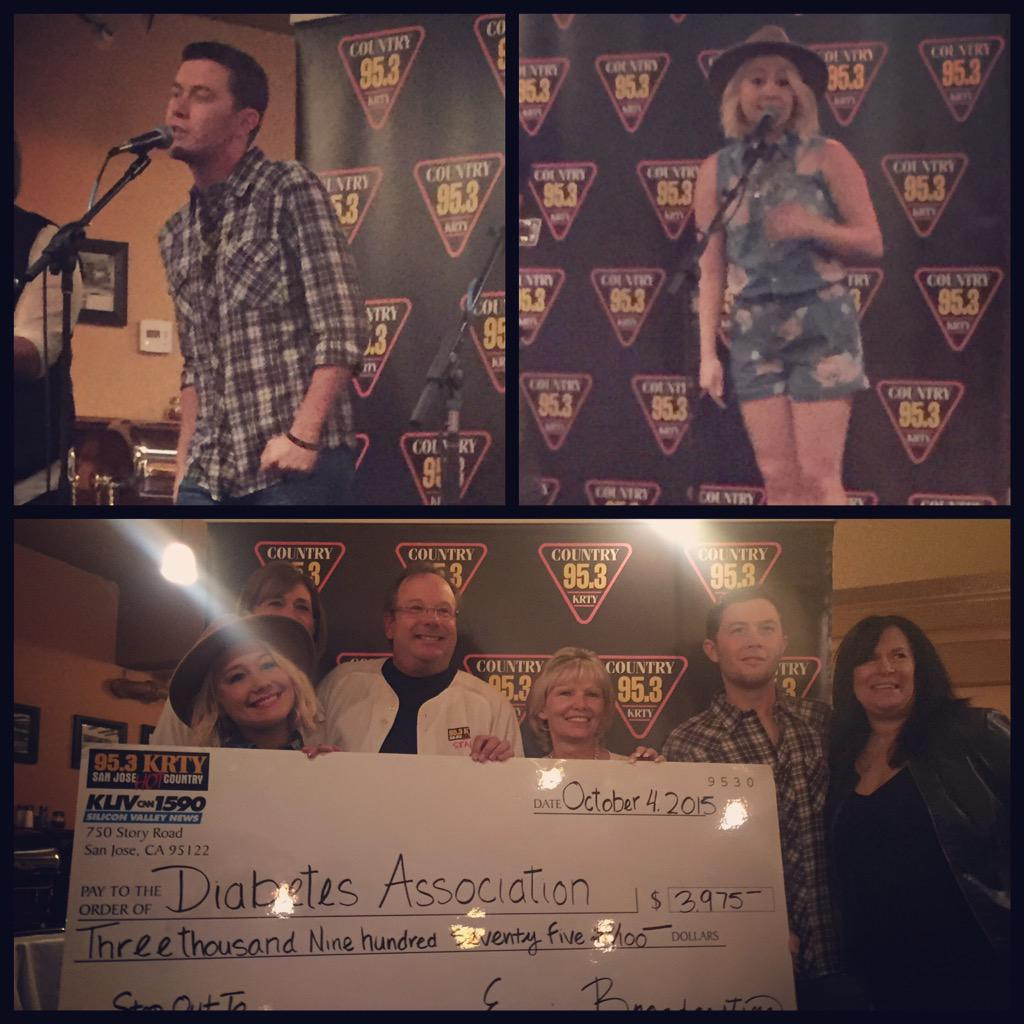 Huge thanks to Scotty McCreery & RaeLynn for helping us raise money for the American Diabetes Association today! http://t.co/ZceAugvWUq