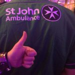 Thank you for @stjohnambulance #nottingham for keeping us safe <3 http://t.co/CWBQ4TYmrj