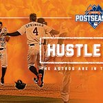 The #Astros are officially in the #Postseason!!!! Welcome to #HustleTown. http://t.co/FsN7WmPaXB