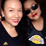 @JeanieBuss @coachdavemiller @LAKERFANATICS My mom @AnaQLakers & I are game time ready. Lets Go @Lakers! #Lakers ???????????? http://t.co/6C9eTMT1r3